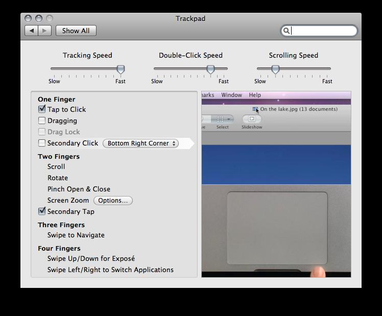 Right Click On A Mac Trackpad